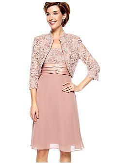 1b860cc3842 (Love the Jacket s sleeve length---pretty dress) RM Richards Three-Quarter  Sleeved Jacket Dress - Belk.com