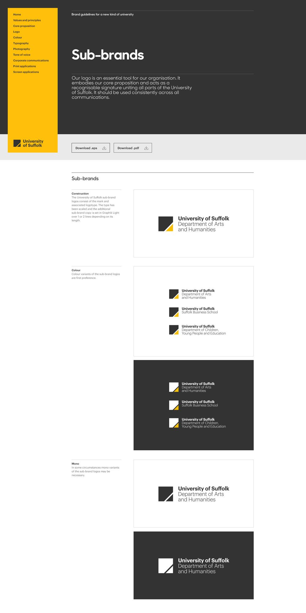 13_University-of-Suffolk_Web-guides_1   Graphic design inspiration