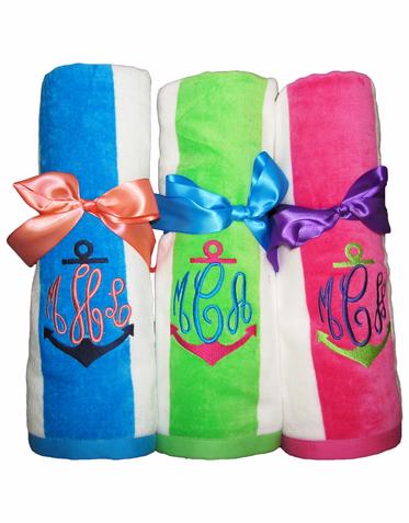 Applique Personalized Beach Towels Applique Towels Monogram