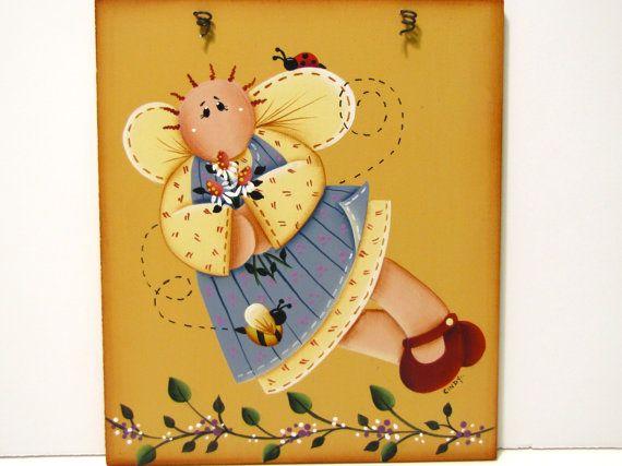Primitive Angel Sign, Handpainted Wood, Home Decor, Wall Art ...