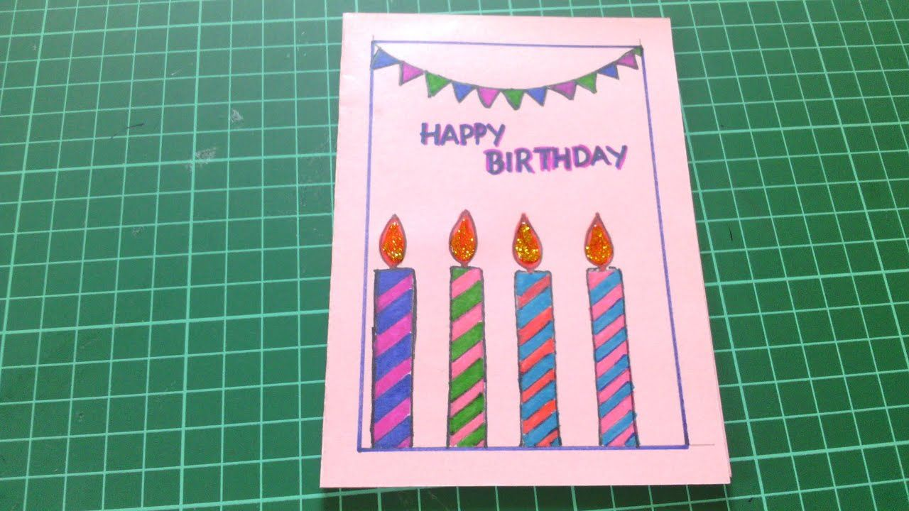 Simple Card Kaise Banaye In 2021 Happy Birthday Cards Handmade Beautiful Birthday Cards Happy Birthday Greeting Card