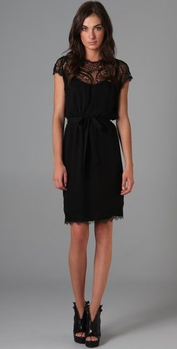 Embroidered cocoon dress. Gorgeous LBD. You have to see it up close to see all the cool detail, though.
