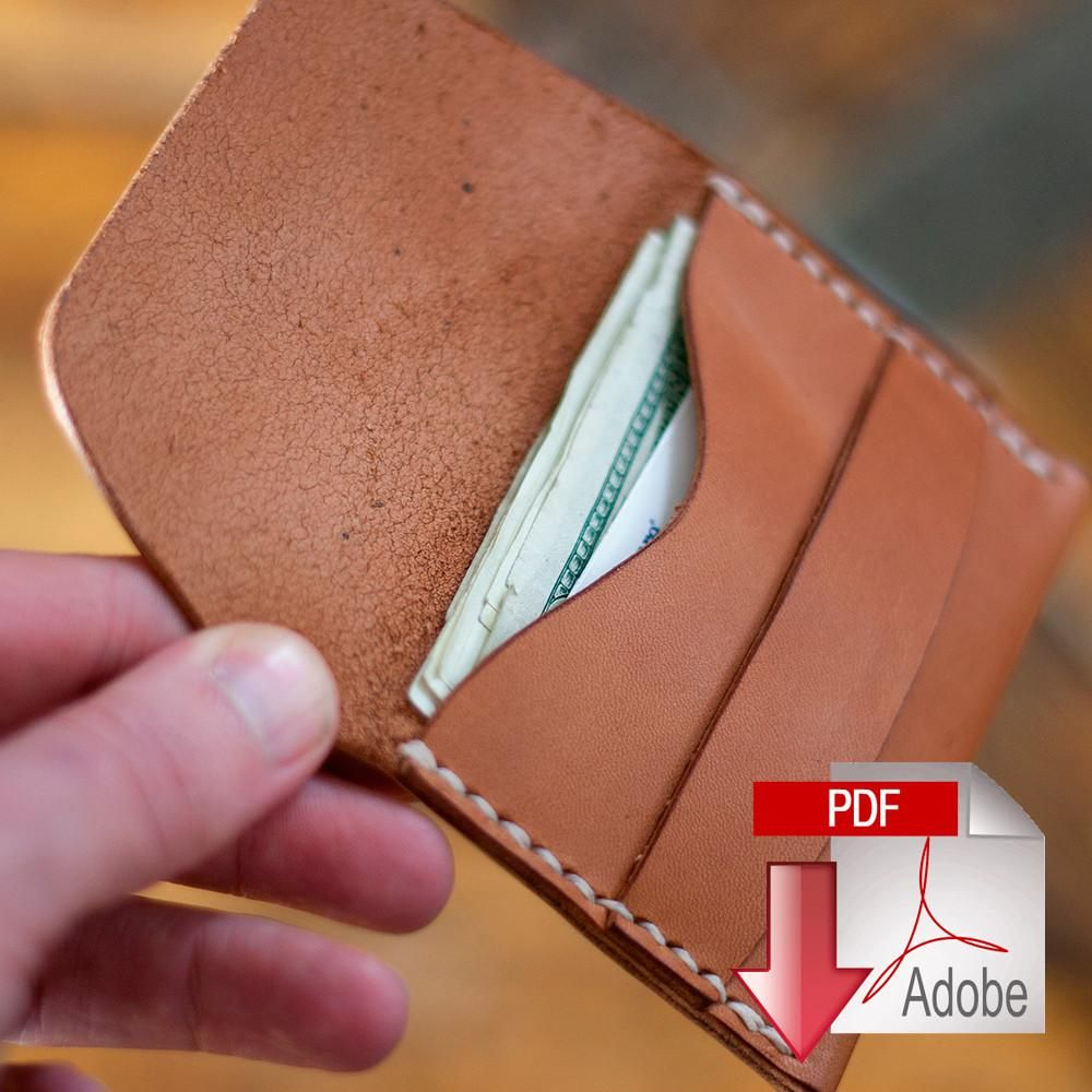 Leather Flap Wallet Digital Template 8 5 X 11 Leather Wallet Pattern Leather Pattern Leather Card Wallet
