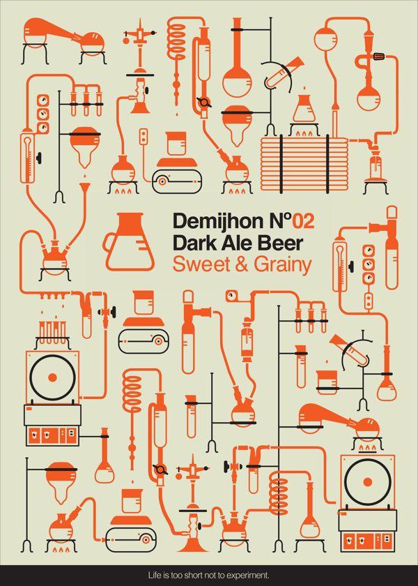 Demijhon Beer by Ifat Zexer, via Behance