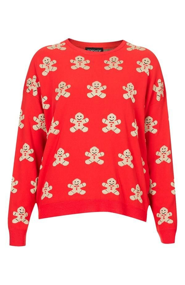 Christmas Jumper Day 2019.Gingerbread Man Sweater Topshop Women S Clothing In 2019