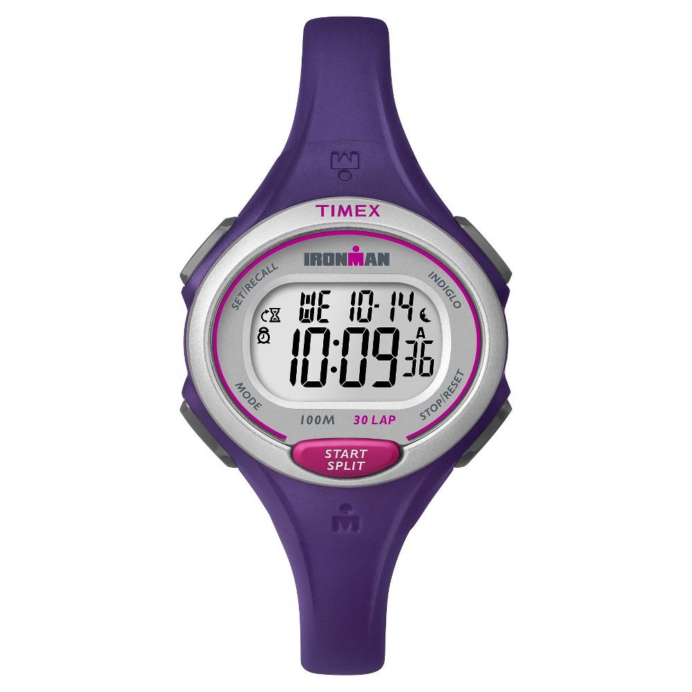 8830f8292 Women's Timex Ironman Essential 30 Lap Digital Watch - Purple TW5K90100JT