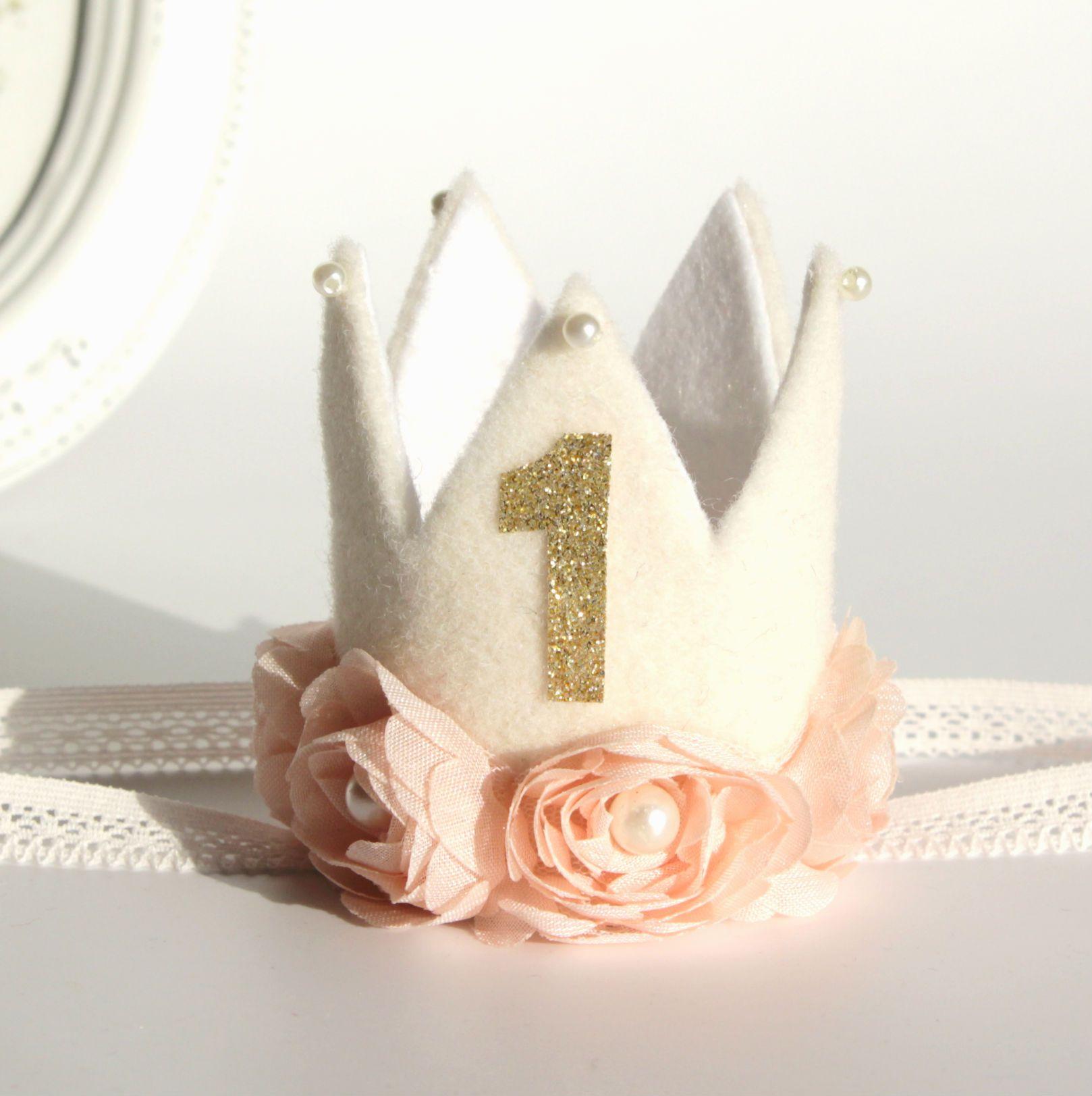 Baby Girl First Birthday Crown First Birthday Crown Girl First Birthday Birthday Crown