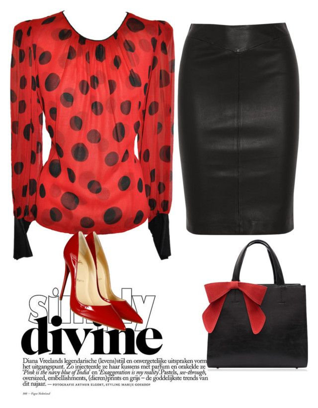 """fashion"" by evelina-er on Polyvore featuring Joseph and Christian Louboutin"