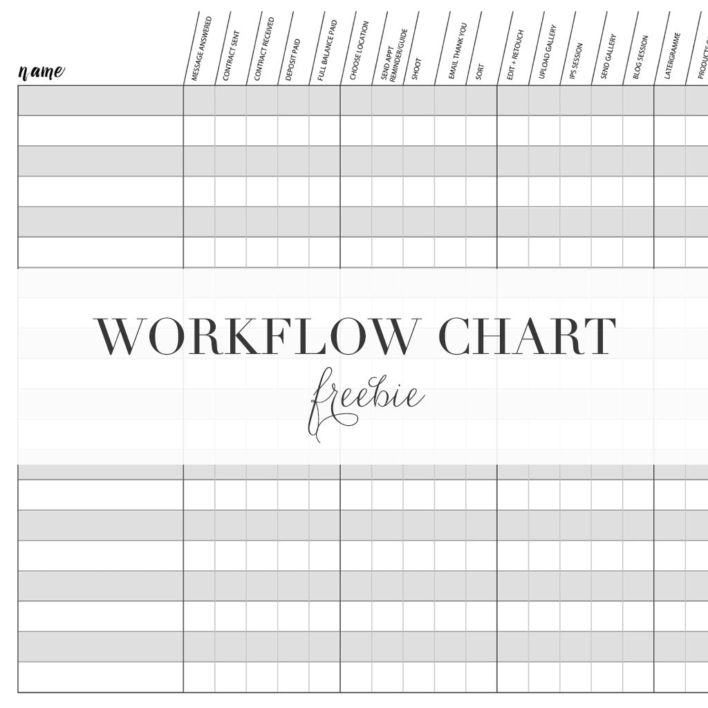 Photography Workflow Chart Free Organized Photographer Photography Freebies Learning Photography Photography Business