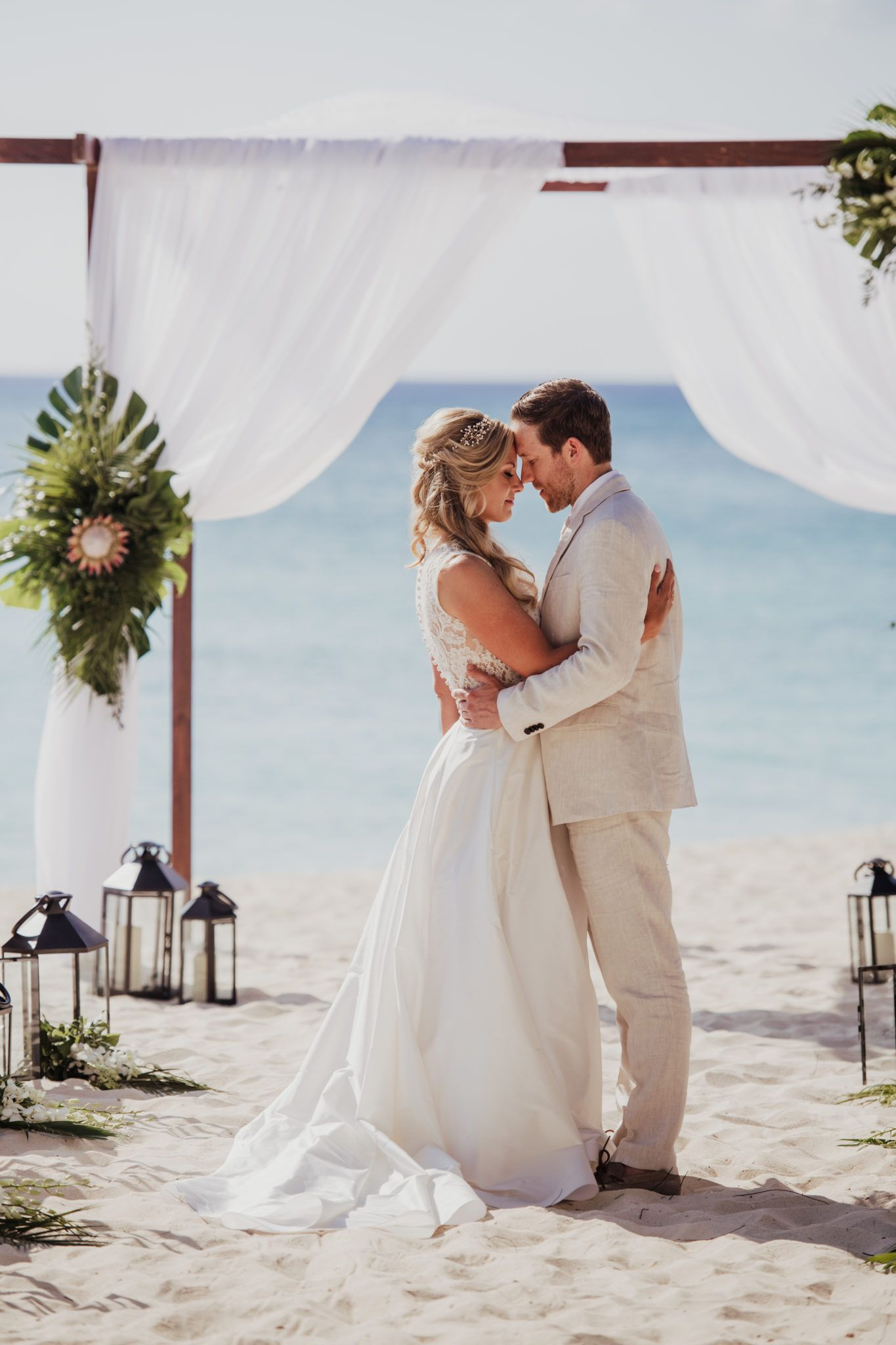 Caribbean wedding dress  Elegant Destination Wedding at the Caribbean Club  Real LeaAnn