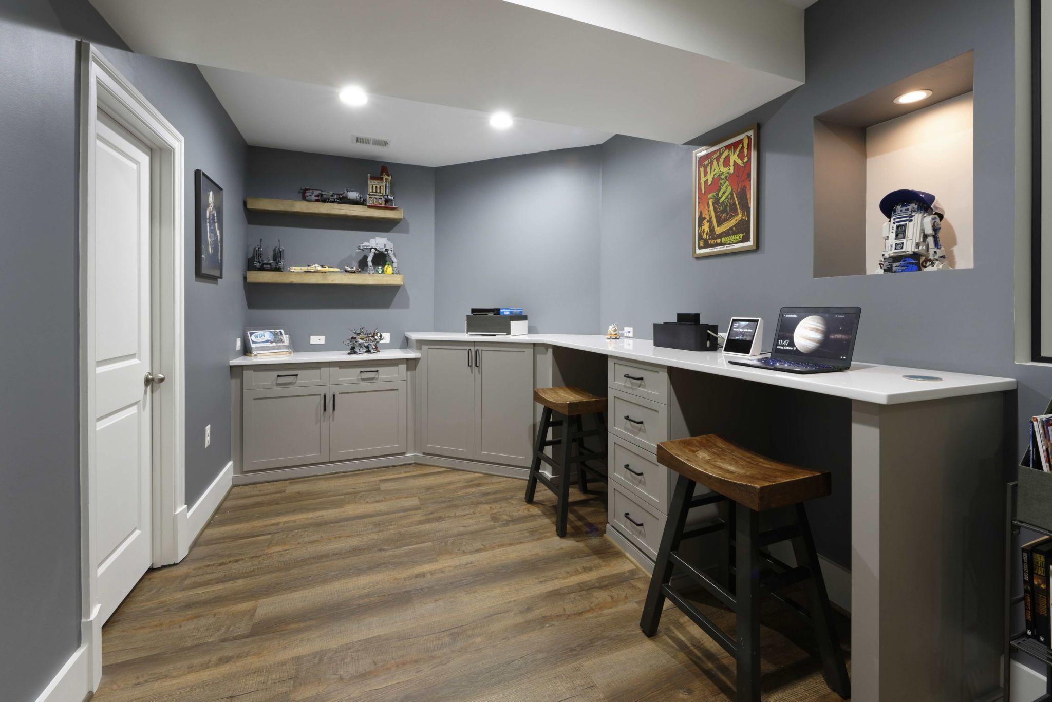 Basement creative lab in 2020 Finishing basement, Large