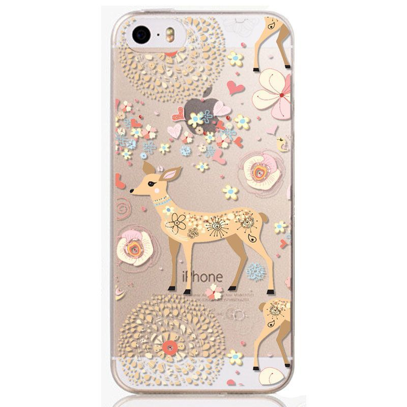 New Arrival Phone Skin for iPhone 5 5S Beautiful Flowers TPU soft Phone Skin Cover