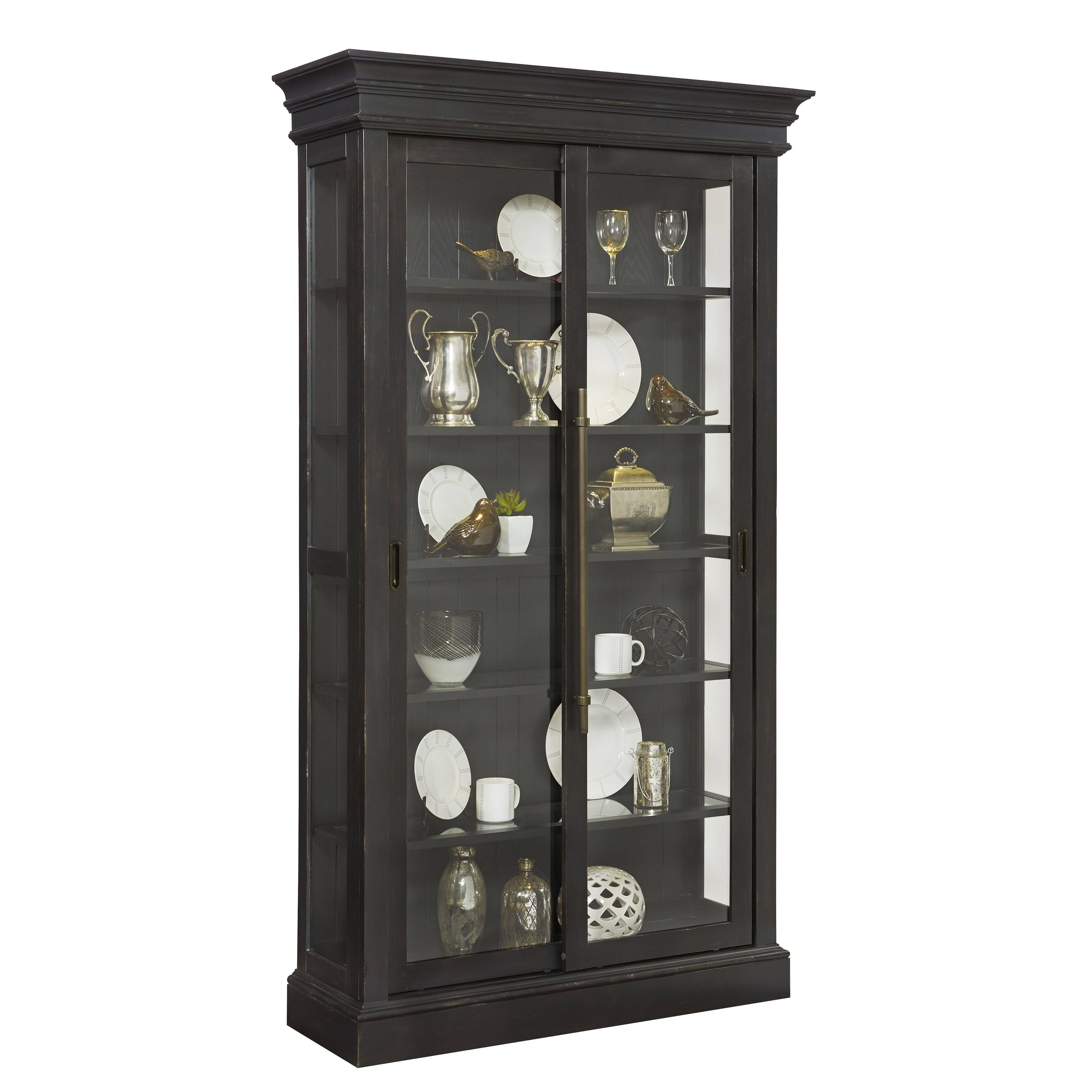 An updated take on a traditional curio this display cabinet mixes