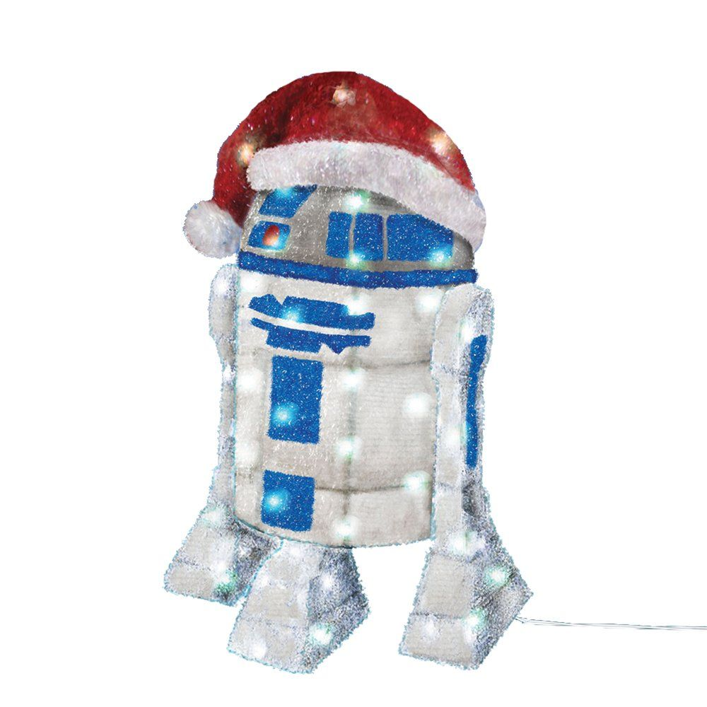 "Amazon.com - Kurt Adler UL 50-Light 28"" R2D2 Tinsel Decoration with Package - String Lights"