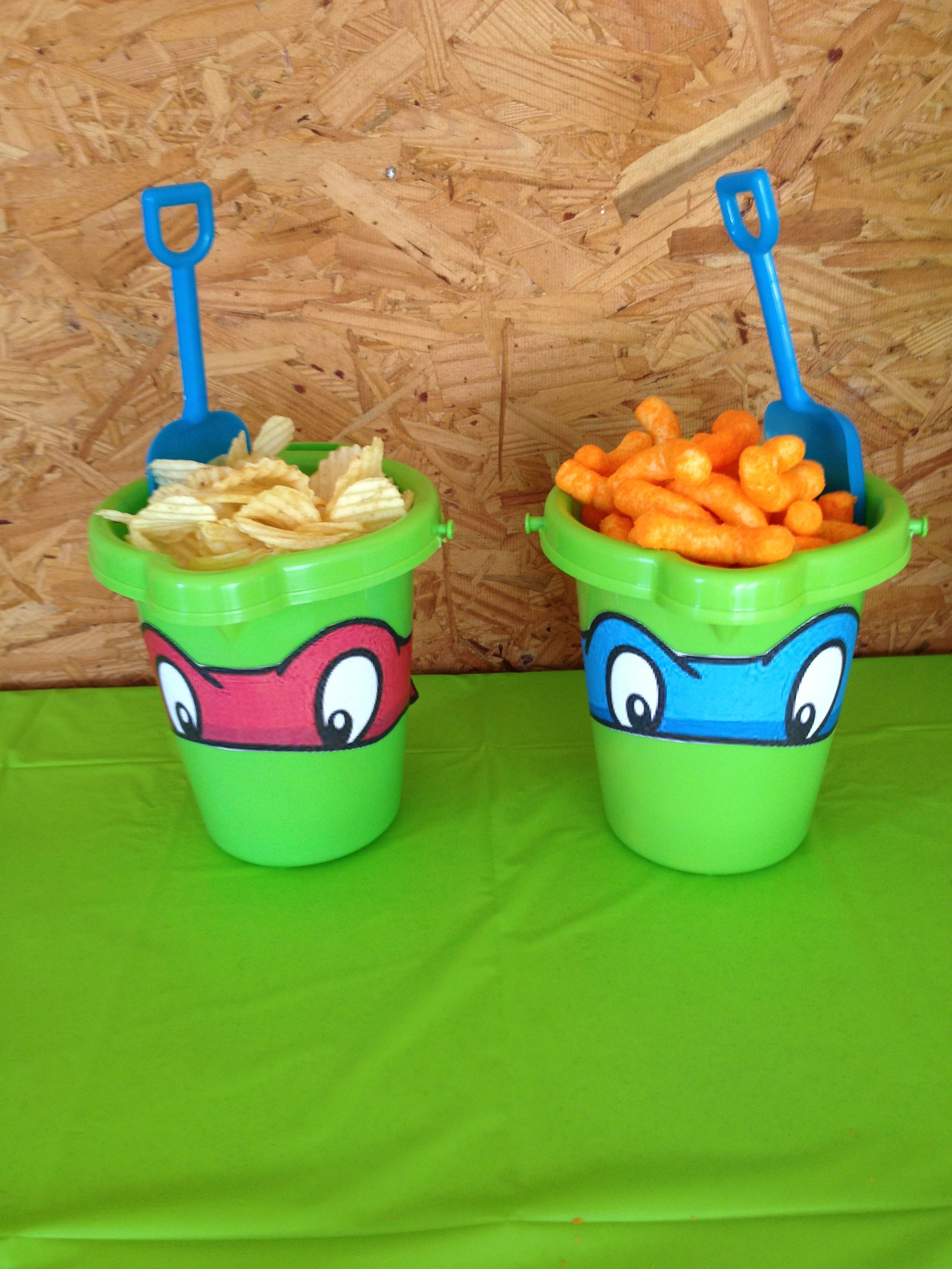 Ninja Turtle Snack Idea Ninja Turtles Birthday Party Turtle Birthday Parties Tmnt Birthday Party Ideas