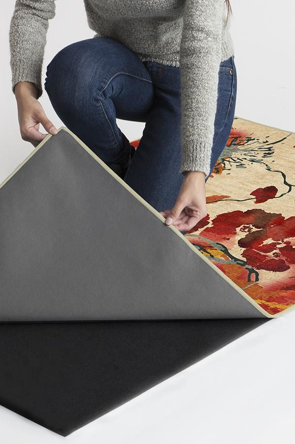 Ruggable Washable Rug Cover Amp Pad Watercolor Floral