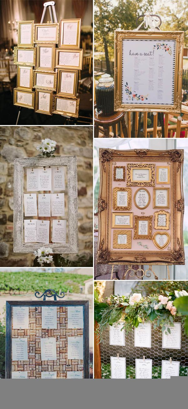 30 Most Popular Seating Chart Ideas For Your Wedding Day ...