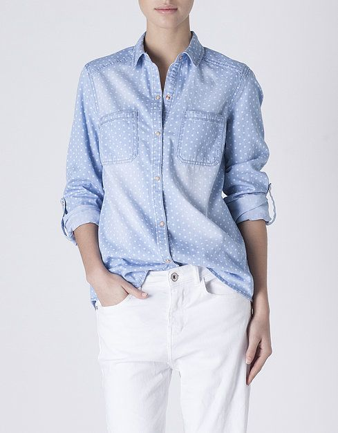 Camisa denim topos | SHOP ONLINE SUITEBLANCO.COM