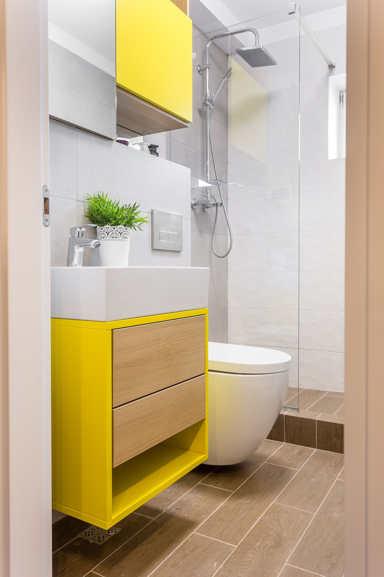Small bathroom design, renovated by our team in Bucharest. Happy ...