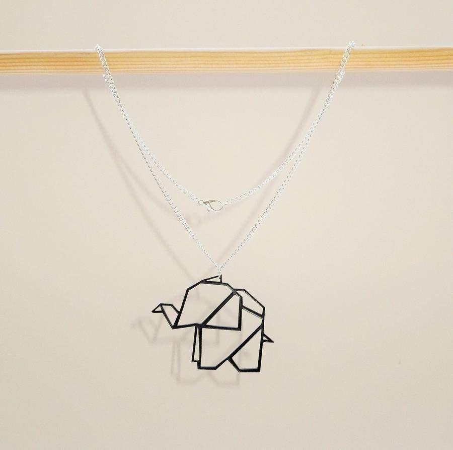 Origami geometric elephant necklace geometric elephant elephant origami geometric elephant necklace more jeuxipadfo Choice Image