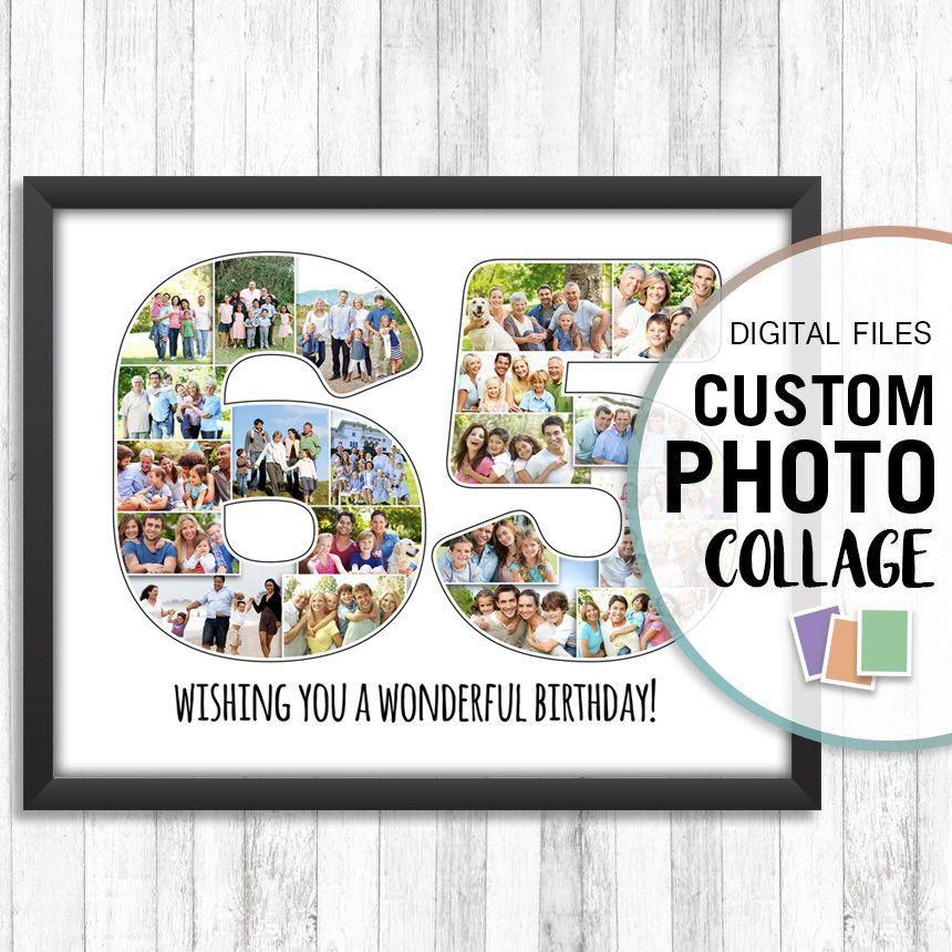 65th Anniversary Gift, 65 Photo Collage, 65th Birthday