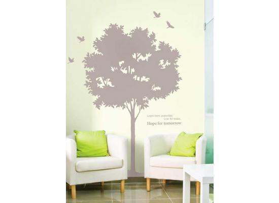 Epic Wandsticker Wandtattoo grauer Baum der HoffnungAlt wie ein Baum Der XXL Wandsticker grauer Baum der