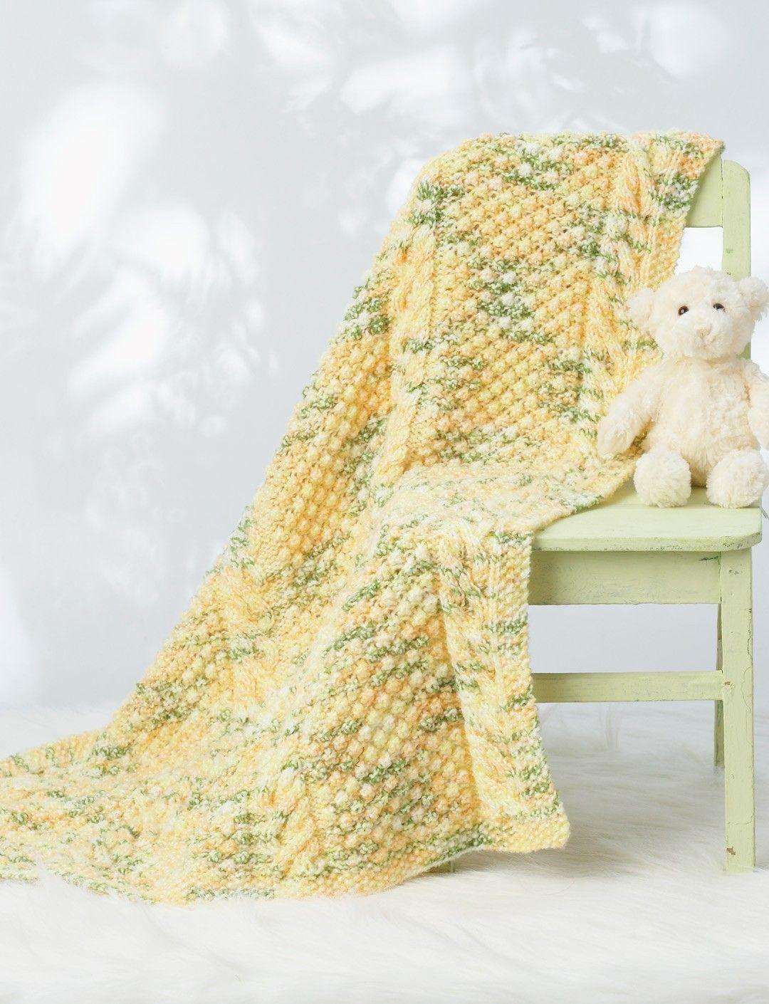 Yarnspirations.com - Bernat Cable Baby Blanket - Patterns ...