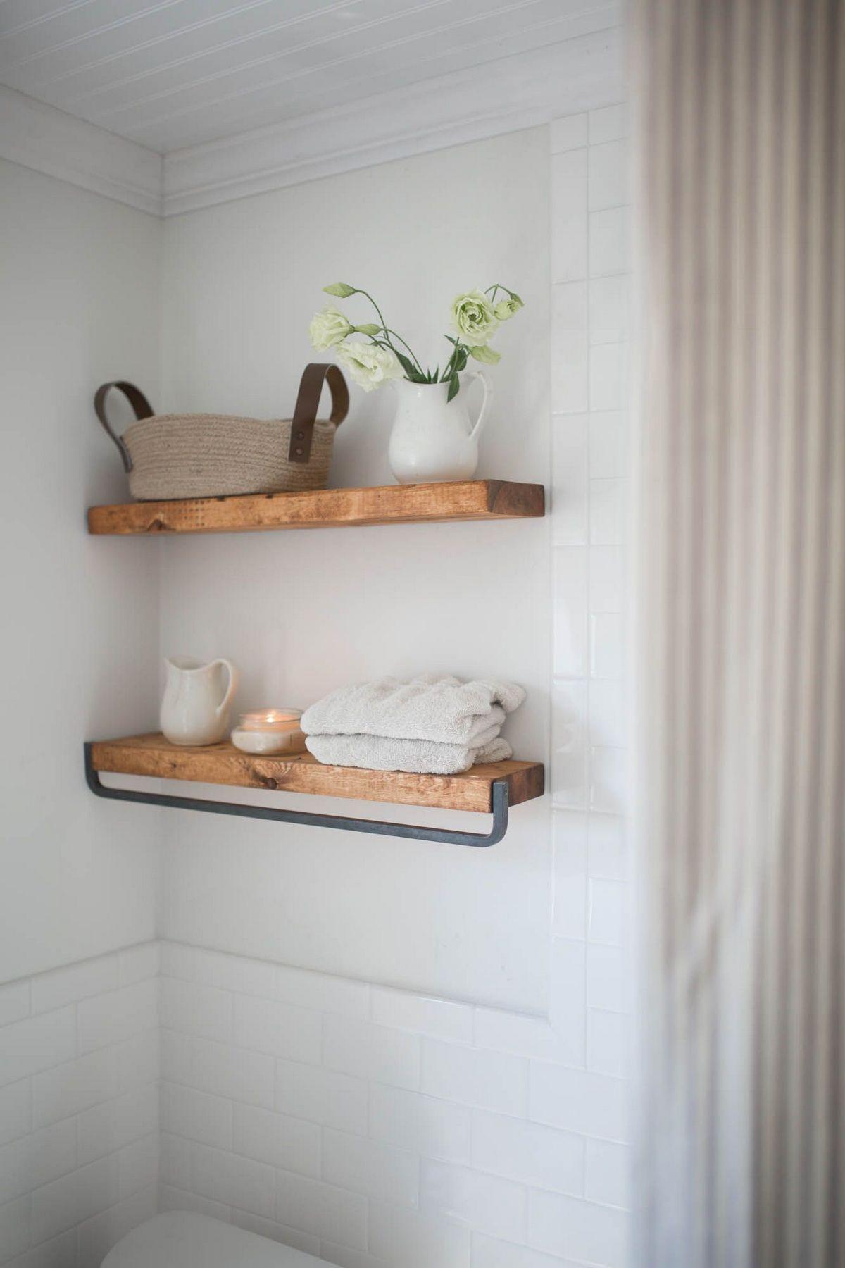 50 Die Beliebtesten Deko Ideen Fur Kleine Badezimmer Kleines Bad Dekorieren Badezimmer Dekor Schwebende Regale