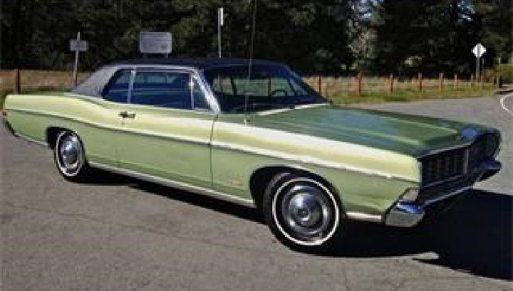 1968 Ford Ltd 2dr H T Lime Green With Black Vinyl Roof Ford Ltd Ford Lincoln Mercury Ford Galaxie