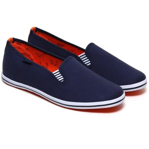 Portovelo Classics Pacific Blue (€33) ❤ liked on Polyvore featuring shoes, sporting shoes, sports shoes, sport shoes, slip-on shoes and sport slip on shoes