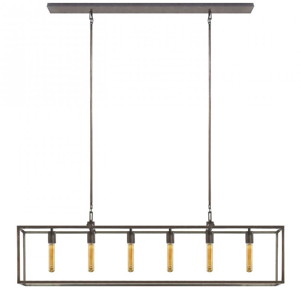 Belden Linear Pendant In Aged Iron With Clear Gl 2jpmu Lights Unlimited Inc