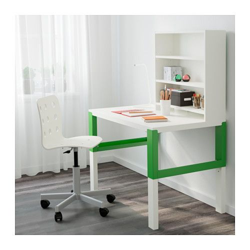 P hl desk with add on unit white green desks shelves and big girl bedrooms - Ikea scrivanie pc ...