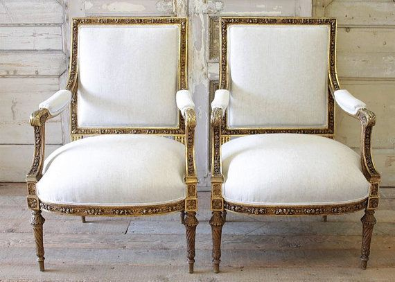 Antique French Louis XVI Chairs By FullBloomCottage On Etsy