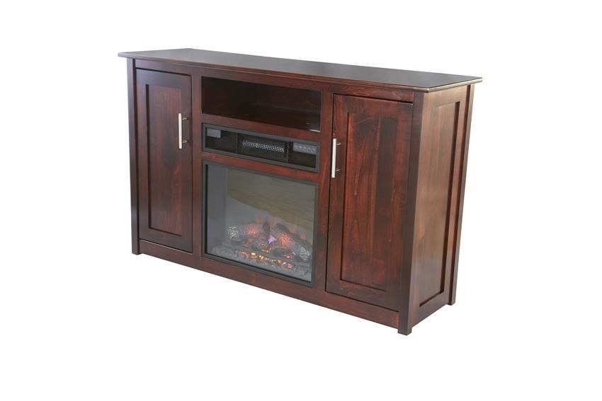 """Amish Camden 57"""" Electric Fireplace TV Stand   Fireplace ..."""