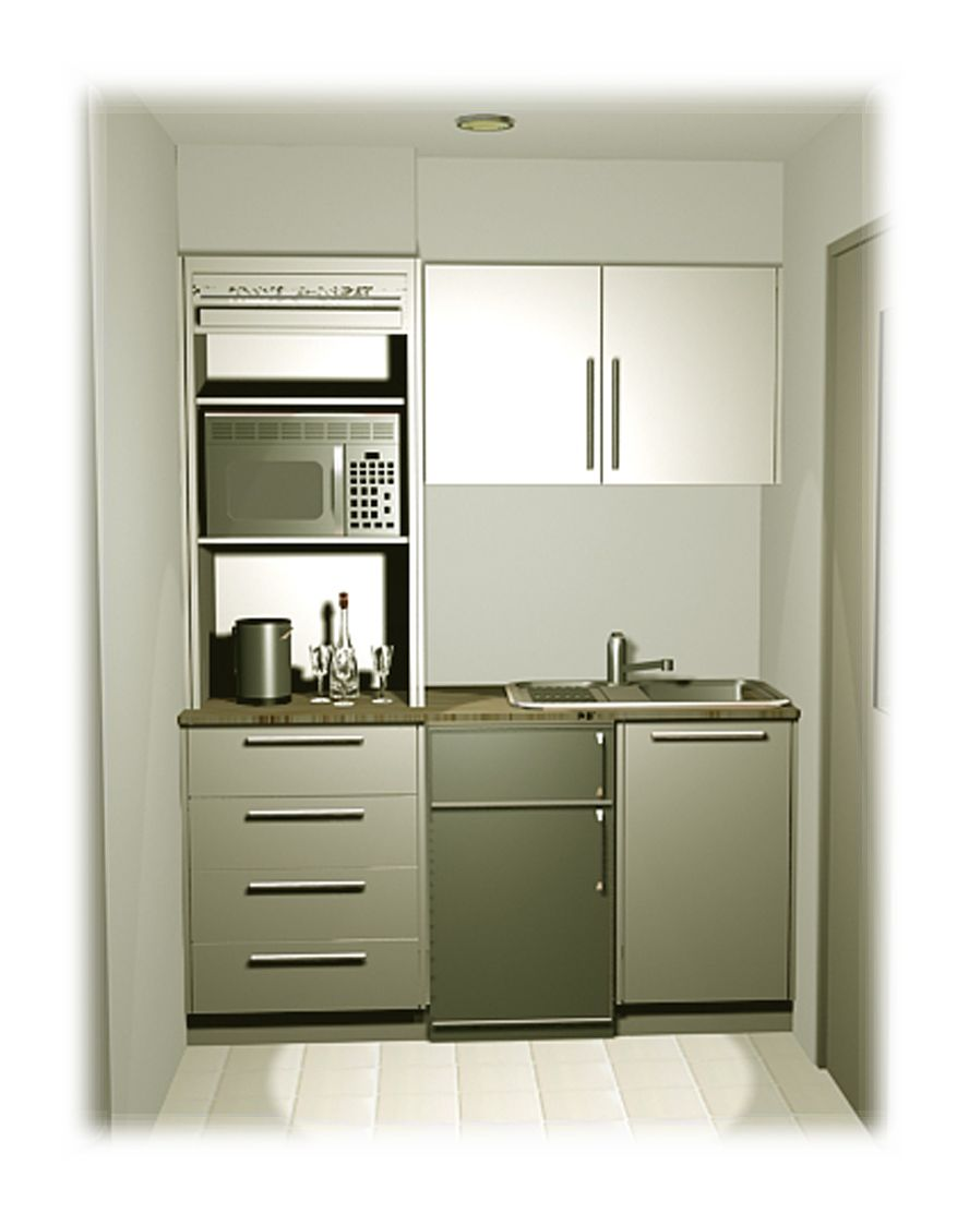 Our smallest kitchenette using an existing storage room - Modern office kitchen ...