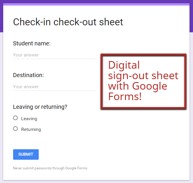 The New Google Forms  Classroom Uses  Google Drive Google And