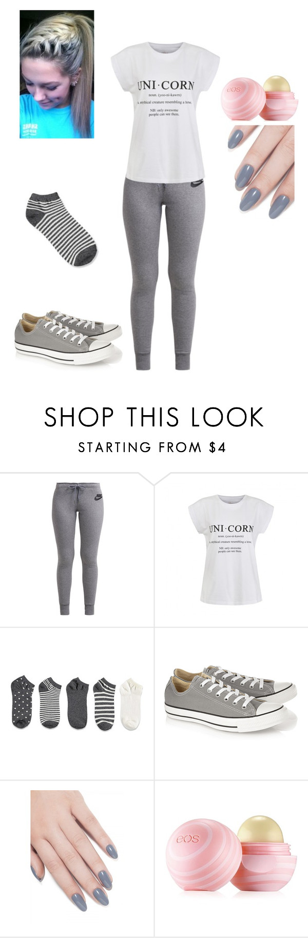 """1/4/16"" by mini-14 ❤ liked on Polyvore featuring NIKE, Ally Fashion, Forever 21, Converse, ncLA and Eos"