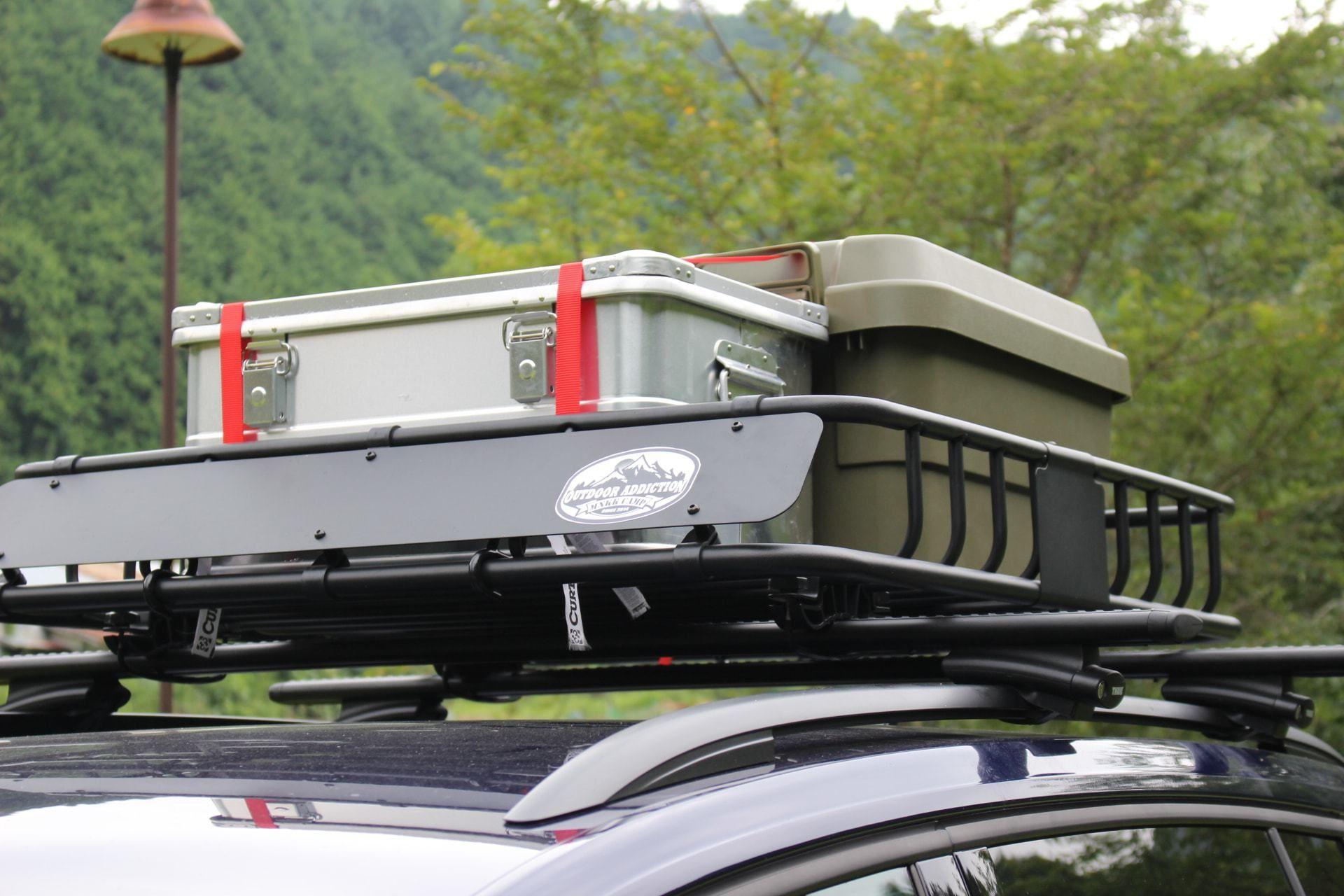 Curtルーフマウントカーゴラック 延長エクステンション装着 これでキャンプ積載問題をまたちょっと解消 ルーフ カーゴ ルーフラック