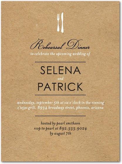 Restaurant wedding invitation g pretty paper