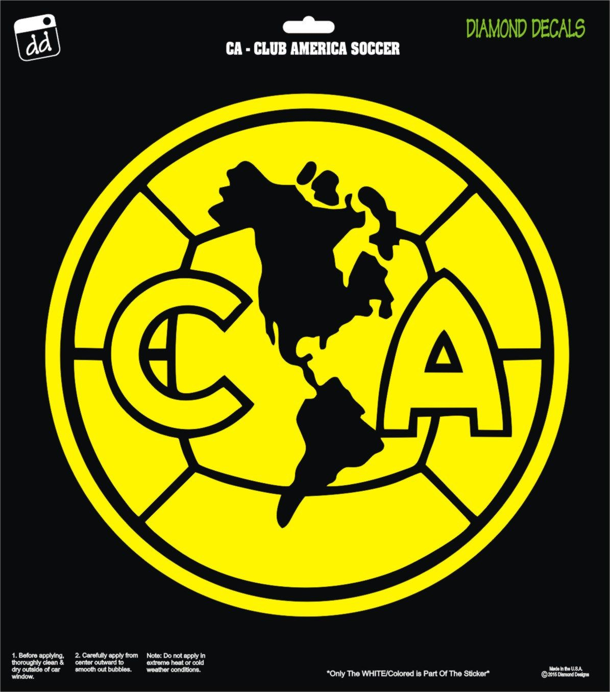 Club America Soccer Team Decal Campeon Aguilas Mexico Vinyl Car Truck Window Laptop Club America Team Decal Diamond Decals