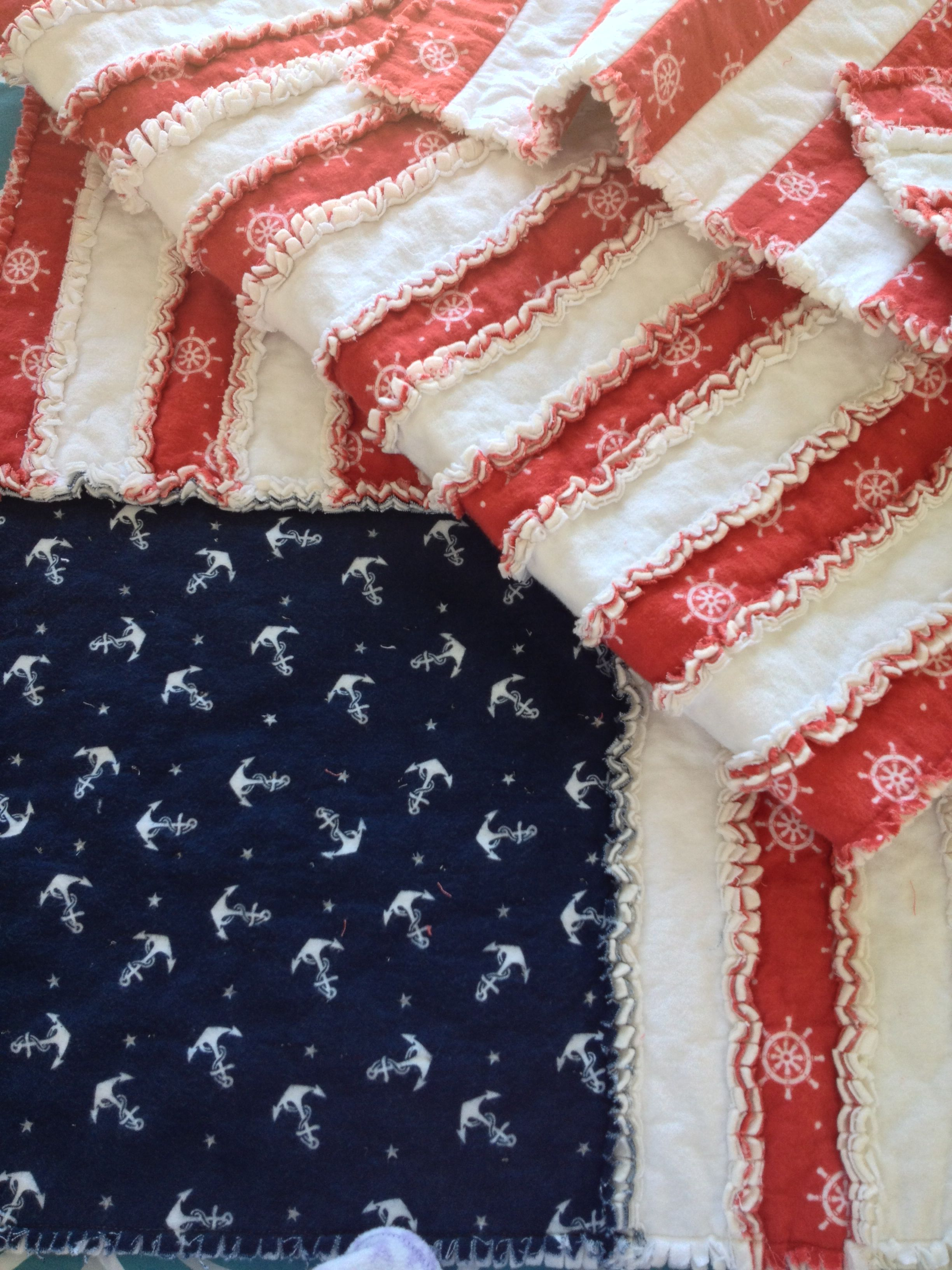 American Flag Rag Quilt The Red And White Flannel Is 2