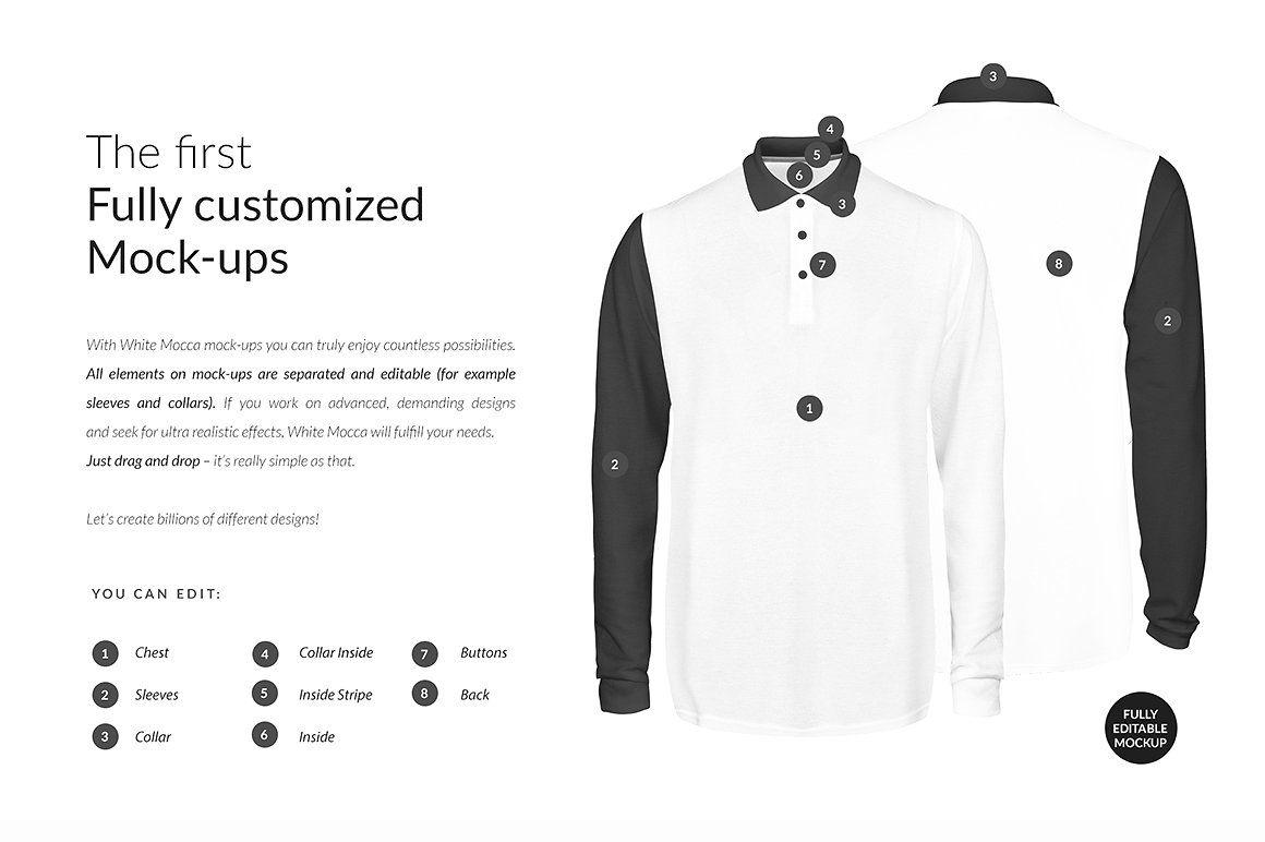 Download Polo Longsleeve Ghost Mock Ups Free Polo Shirt Women Shirt Mockup Selling Photos