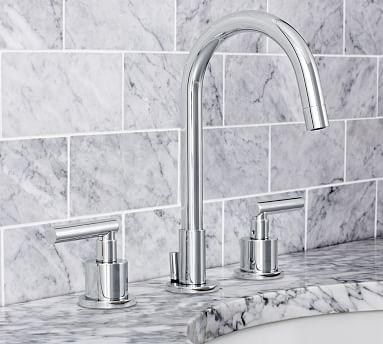 Delightful Exton Lever Handle Widespread Bathroom Faucet #potterybarn