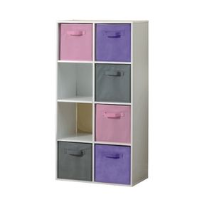 Forget Using A Regular Book Shelf Get A Cube Organizer With Assorted Coloured Fabric Drawers To Match Your Style