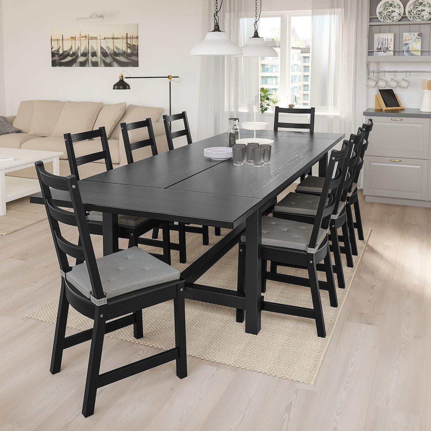 Nordviken Nordviken Table And 6 Chairs Black Black 82 5 8 113