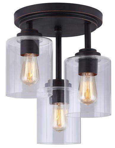 Patriot Lighting Henrik Rubbed Antique Bronze 11 1 2 3 Light Semi Flush Mount With Clear Gl Vintage Syyle Bulbs Included