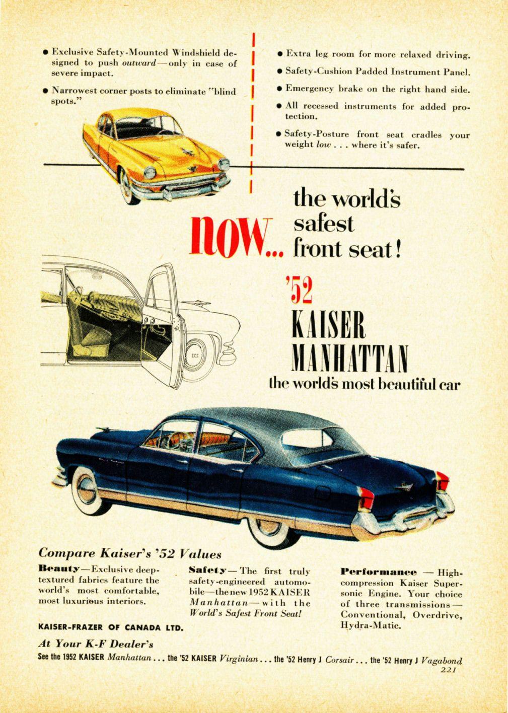 1952 Kaiser Manhattan Four Door Sedan | Kaiser: 1952 - 1955 ...