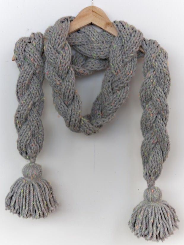 Bufanda trenzada | moda | Pinterest | Schals, Kragen und Tücher