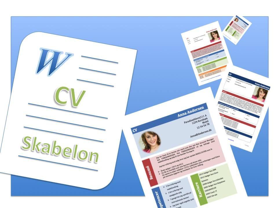 4 flotte CV-skabeloner i Word - cv words
