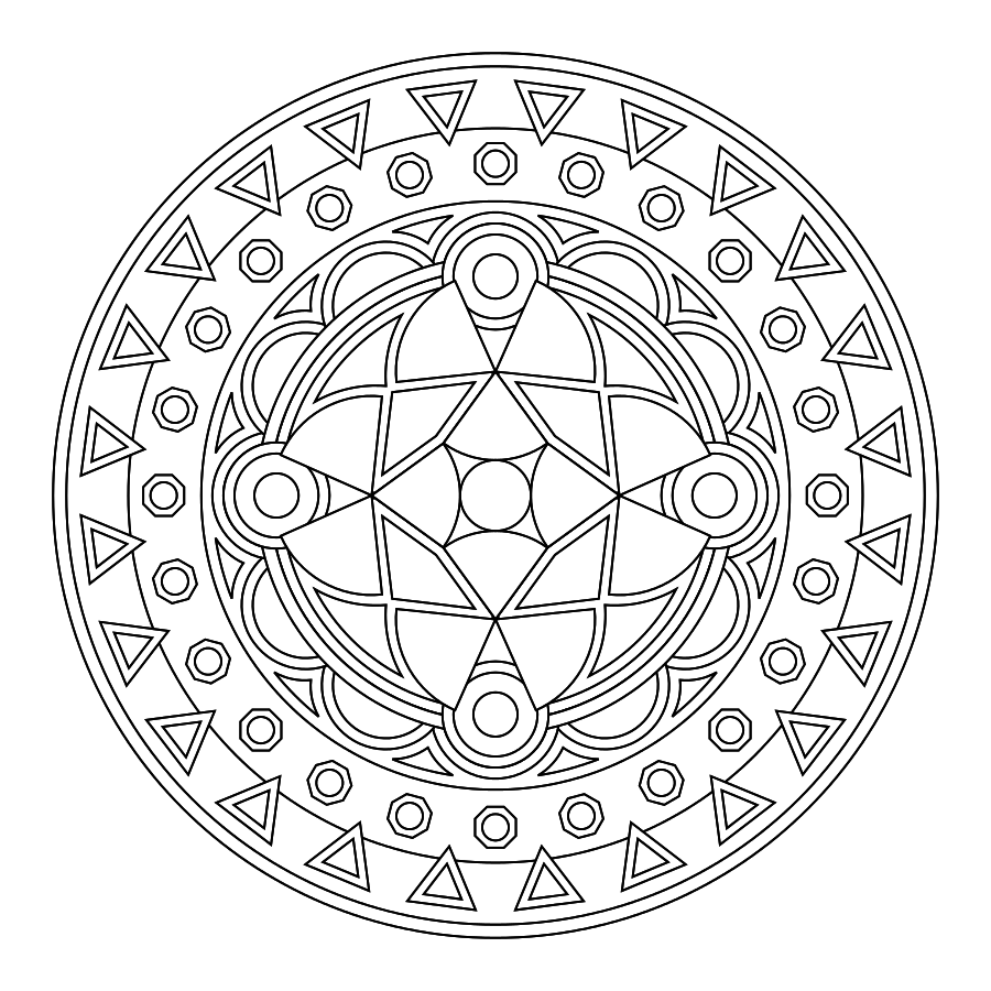 Relaxing coloring pages for teens ~ Printable Mandalas, great relaxing meeting activity for ...